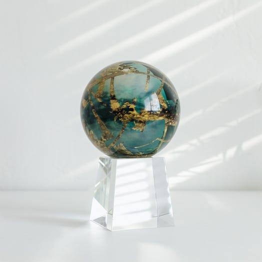 "Titan MOVA Globe 4.5"" with Crystal Base Tall"