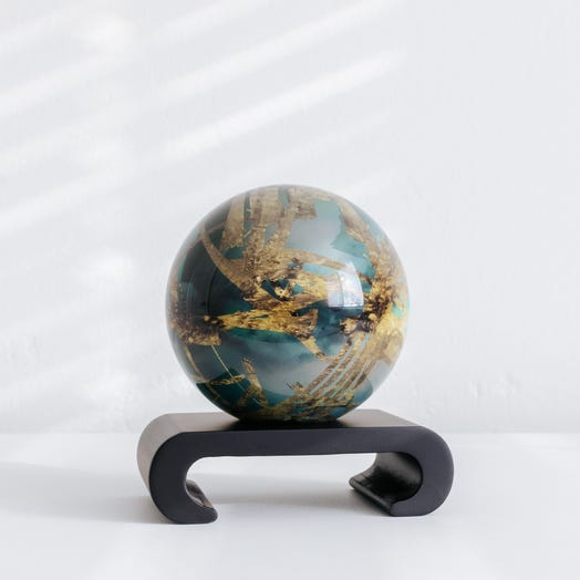 "Titan MOVA Globe 4.5"" with Arched Base Black"
