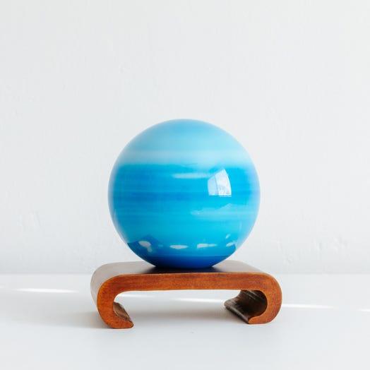 "Uranus MOVA Globe 4.5"" with Arched Base Dark Wood"