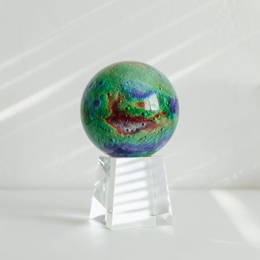 "Vesta Asteroid MOVA Globe 4.5"" with Crystal Base Tall"