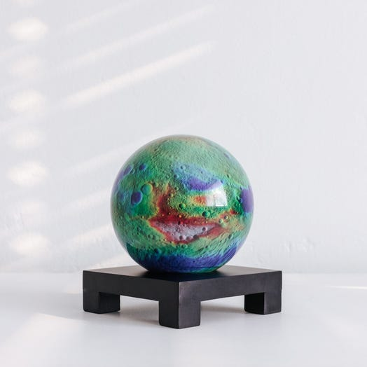 "Vesta Asteroid MOVA Globe 4.5"" with Square Base Black"