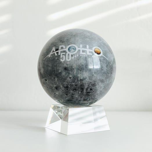 "Apollo Moon MOVA Globe 6"" with Crystal Base"