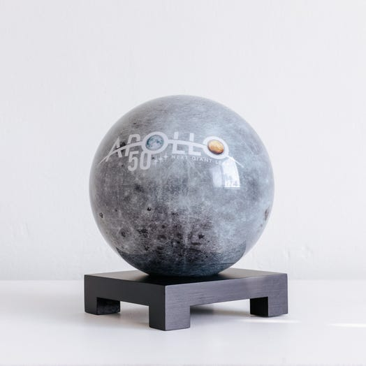 "Apollo Moon MOVA Globe 6"" with Square Base Black"