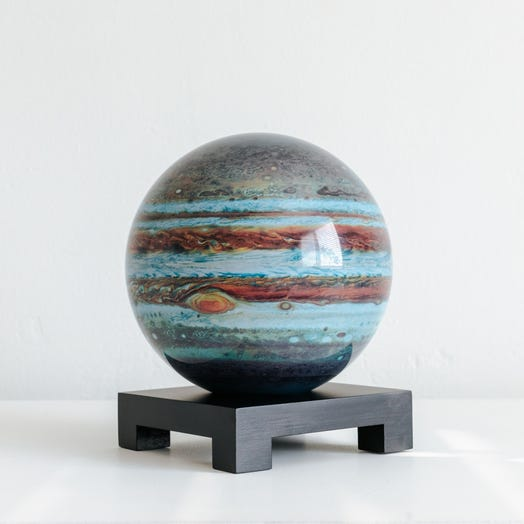 "Jupiter MOVA Globe 6"" with Square Base Black"
