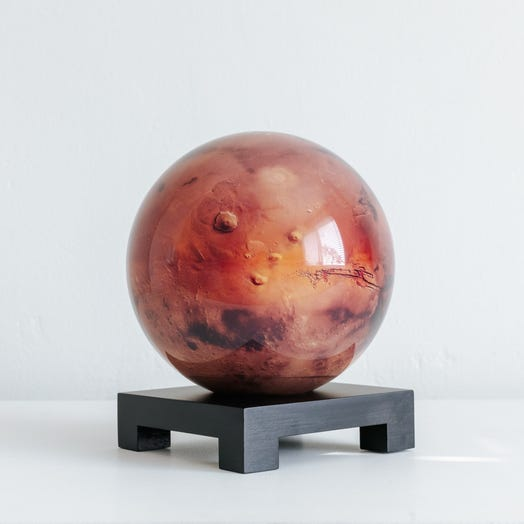 "Mars MOVA Globe 6"" with Square Base Black"