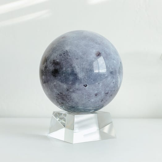"Moon MOVA Globe 6"" with Crystal Base"