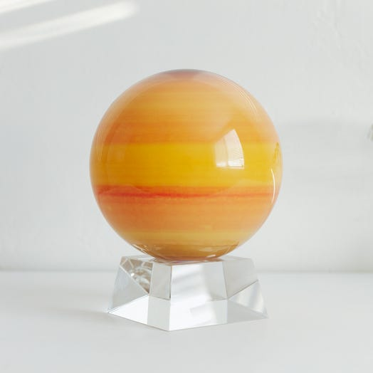 "Saturn MOVA Globe 6"" with Crystal Base"