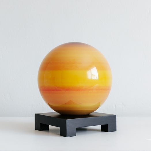 "Saturn MOVA Globe 6"" with Square Base Black"