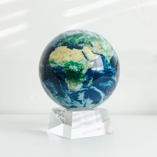 "Earth with Clouds MOVA Globe 6"" with Crystal Base"