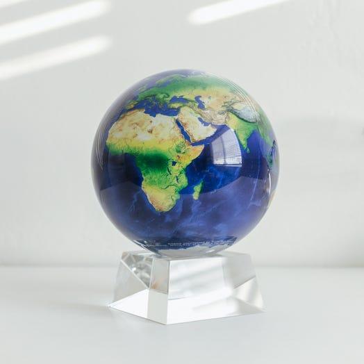 "Earth MOVA Globe 6"" with Crystal Base"