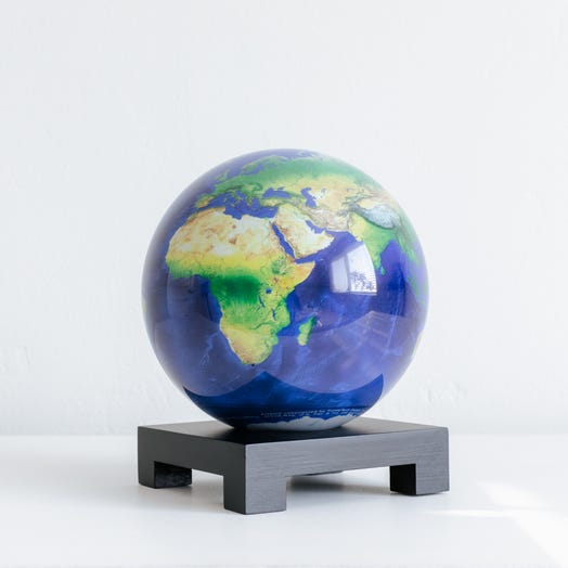 "Earth MOVA Globe 6"" with Square Base Black"