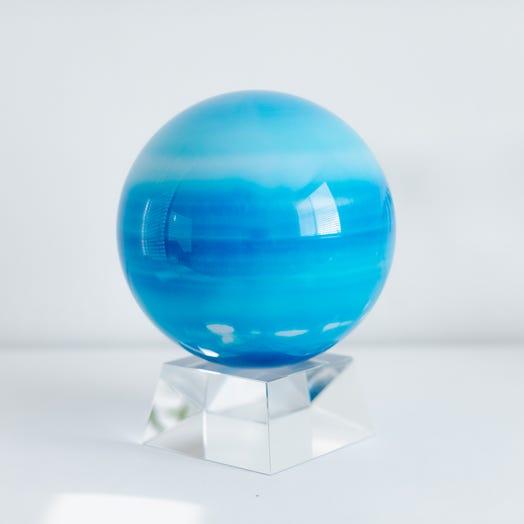 "Uranus MOVA Globe 6"" with Crystal Base"