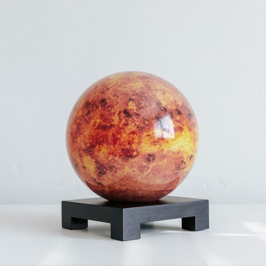 "Venus MOVA Globe 6"" with Square Base Black"