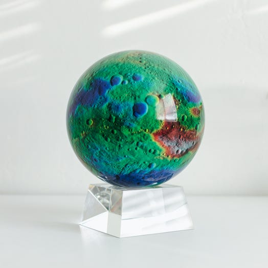 "Vesta Asteroid MOVA Globe 6"" with Crystal Base"