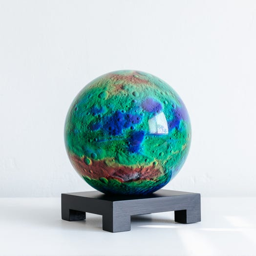"Vesta Asteroid MOVA Globe 6"" with Square Base Black"
