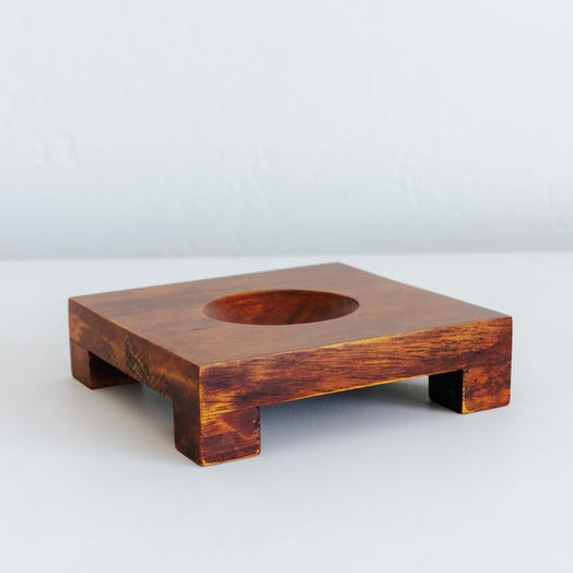 "Square Base Dark Wood for 6"" MOVA Globe"