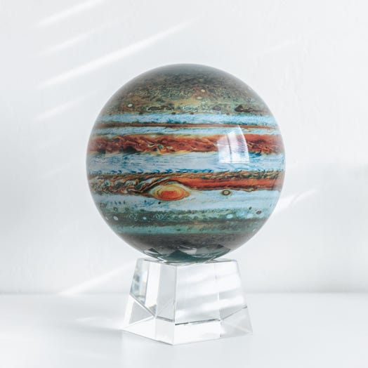 "Jupiter MOVA Globe 8.5"" with Crystal Base"