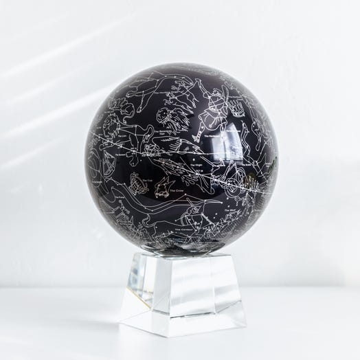 "Constellations MOVA Globe 8.5"" with Crystal Base"
