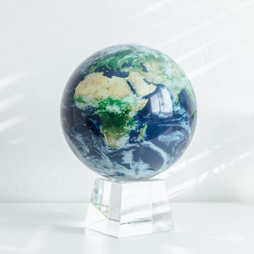 "Earth with Clouds MOVA Globe 8.5"" with Crystal Base"