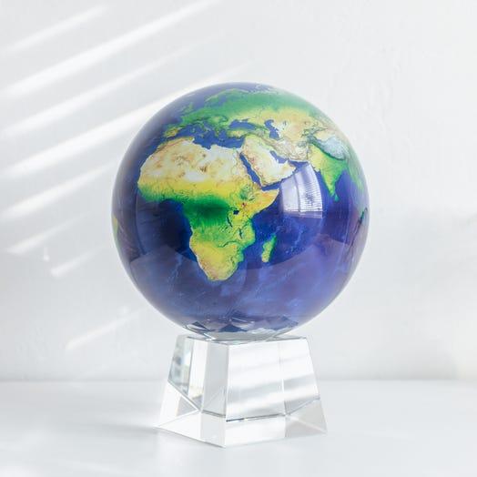 "Earth MOVA Globe 8.5"" with Crystal Base"