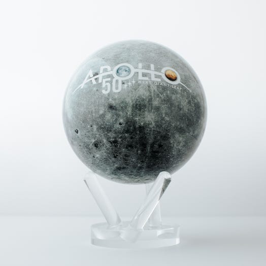 "Apollo Moon MOVA Globe 6"" with Acrylic Base"