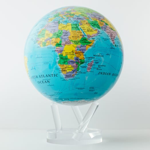 "Political Map Blue MOVA Globe 8.5"" with Acrylic Base"