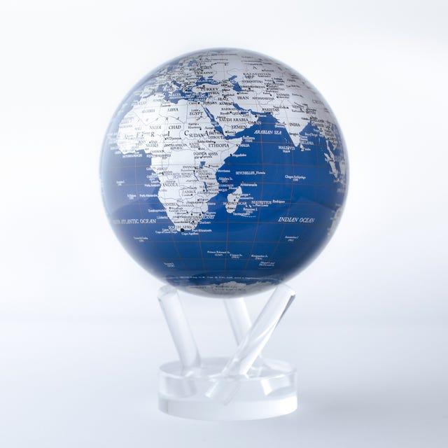 Blue and Silver MOVA Globe
