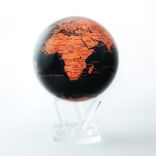 "Black and Copper MOVA Globe 4.5"" with Acrylic Base"