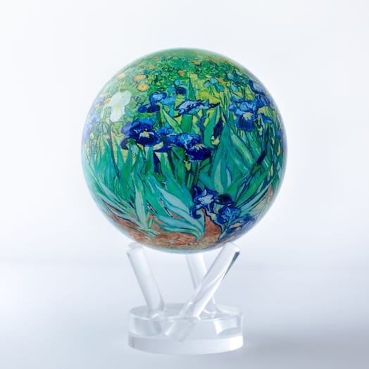 "Van Gogh Irises MOVA Globe 4.5"" with Acrylic Base"