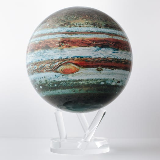 "Jupiter MOVA Globe 8.5"" with Acrylic Base"