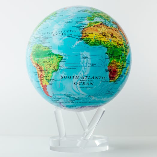 "Relief Map Blue MOVA Globe 8.5"" with Acrylic Base"