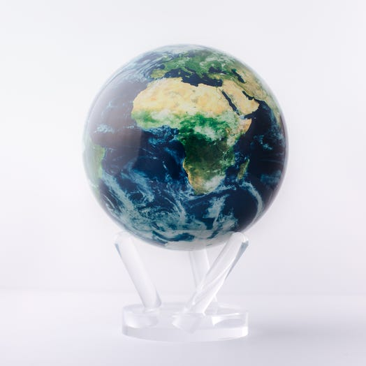 "Earth with Clouds MOVA Globe 6"" with Acrylic Base"