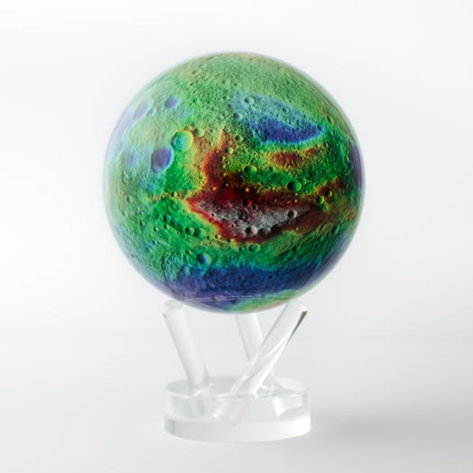 "Vesta Asteroid MOVA Globe 4.5"" with Acrylic Base"